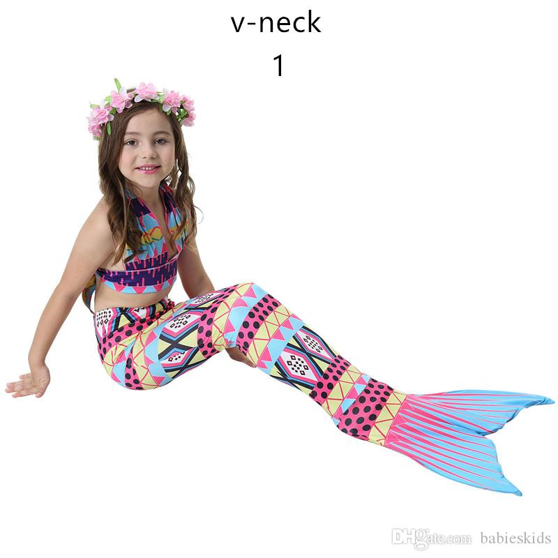 387d7bbe8a 2019 New Design Fashion Girls Swimming Mermaid Tail Children Swimsuit For Girls  Two Piece Dress Swimwear Sport Suit Child Bikini Bathing Suit From ...