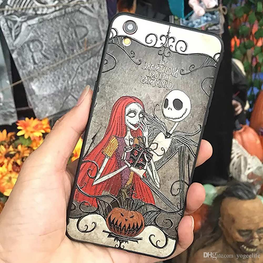 Nightmare Pattern TPU Phone Case Anti Drop Protection Cover for iPhone 6 7 8 X 6s 7s 8s Plus