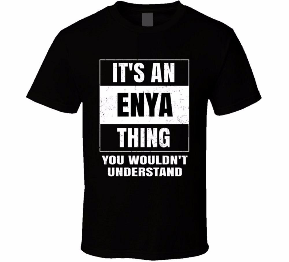 Create Custom T Shirts Mens Short Sleeve Zomer Crew Neck Enya Name