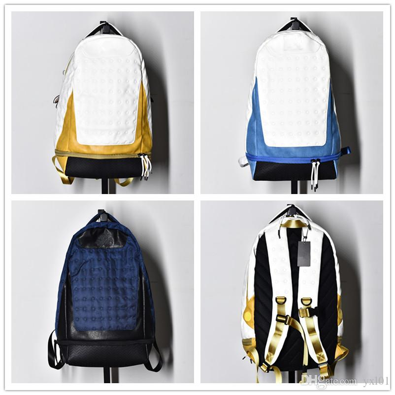 df44e380d21 2018 New Style XIII 13 White Yellow Anthony Navy Blue Paul Basketball  Designer Backpack Mens Womens 13s Sports Shoes School Casual Backpacks  Rucksack ...