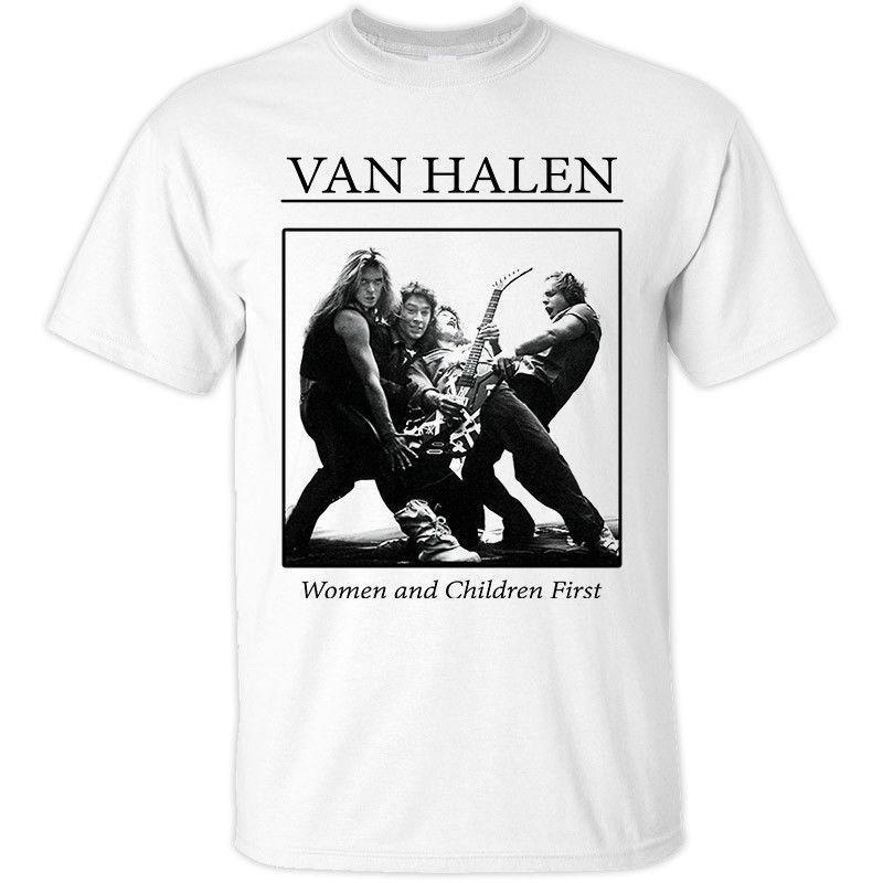 c61a41bfaae VAN HALEN Women And Children First T Shirt White 3XL 4XL 5XL Album Cover T  Shirt Design Template Funny T Shirt From Pxue3306