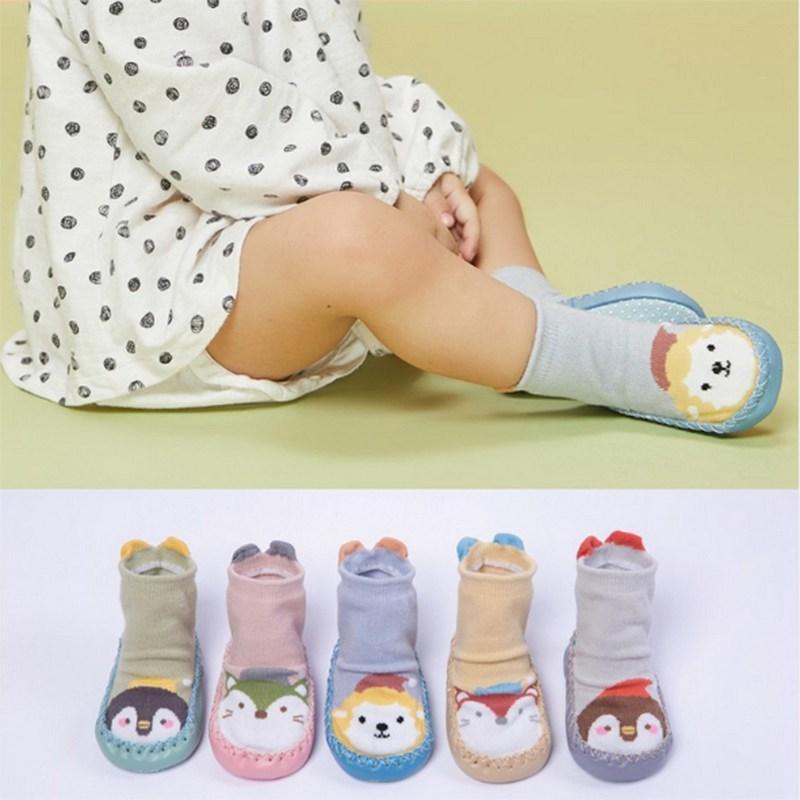 100% QualitäT Nette Baumwolle Baby Socken Mit Ohren Anti-slip Infant Knie Hohe Socken Neugeborenen Tier Cartoon Drucken Socken Mädchen Kleidung