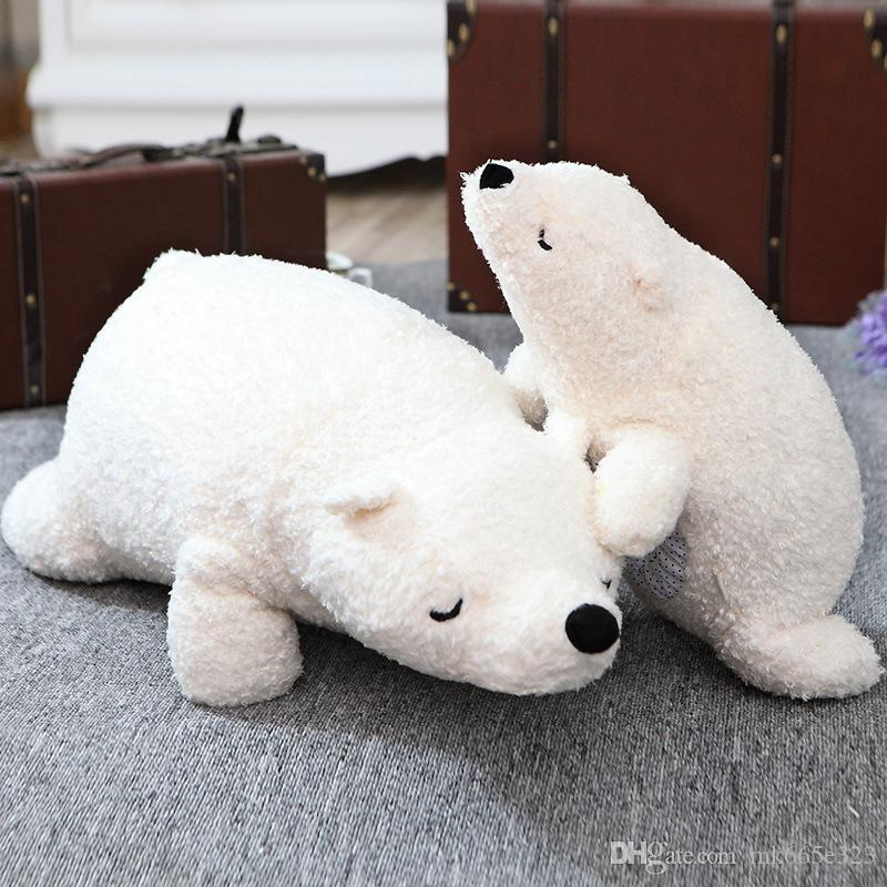 Polar Bears Toys Cute Soft Plush Toy Doll Stuffed Animals Gift Plush Pillow Valentine's Day gift