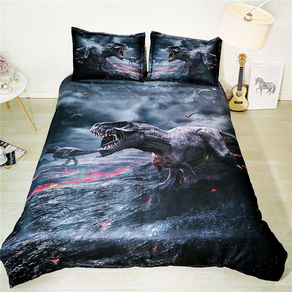 Jf 561 Jurassic Bed Linens Kids Boys Teens Dinosaur Bedding Set