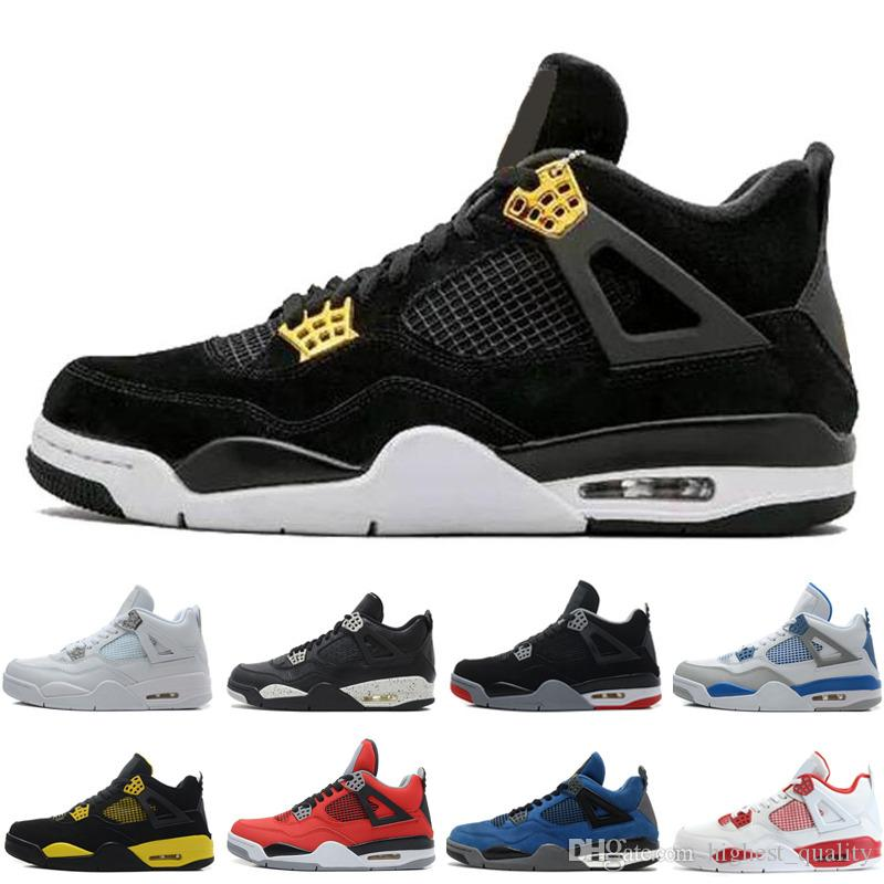 buy popular ca023 4acba 4 4s Men Basketball Shoes Bred Oreo Fear Pack Royalty Toro Bravo Angry bull  Military Blue White Alternate 89 Cavs Green Glow Sports Sneakers