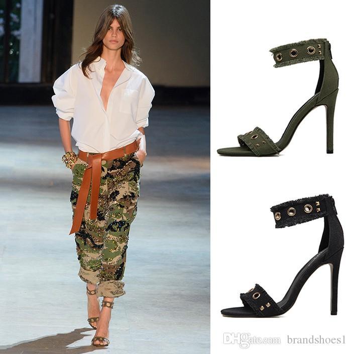 e7b26dd0381 Women Pumps Denim High Heels Cutout Stiletto Thin Heels Party Shoes Blue Black  36-40 Online with  38.33 Pair on Brandshoes1 s Store