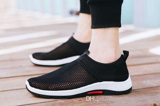 clearance sale huge surprise 2018 new summer mesh surface light Male breathable mesh sports shoes Korean running shoes sandals AK5Ni3JbF9