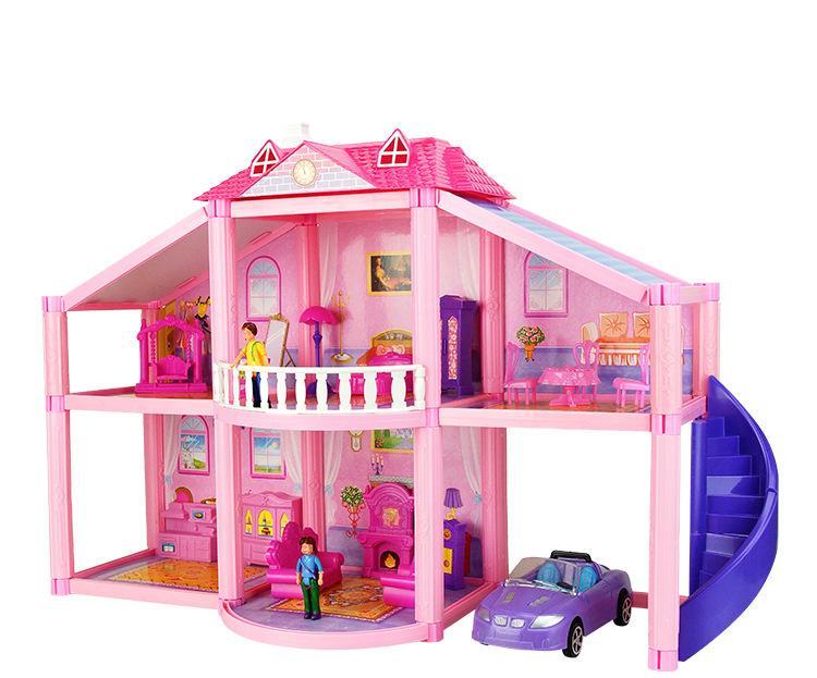 Doll House Furniture Plastic Car Bed Man Kids Miniature Table Diy