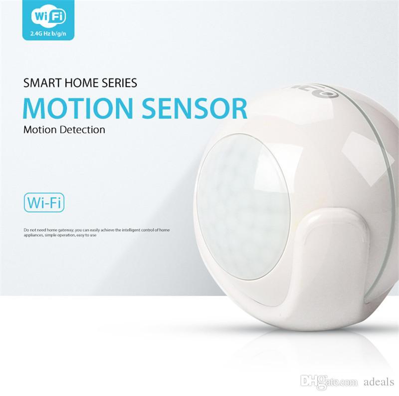 Detector de alarma de sensor de movimiento Wifi Detector de movimiento PIR para automatización de casa inteligente y alertas de notificación de aplicación, sin necesidad de concentrador