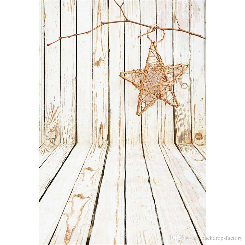 Retro Vintage Wood Background Printed Star Baby Newborn Photography Props Kids Children Wooden Wall Floor Photo Studio Backdrops