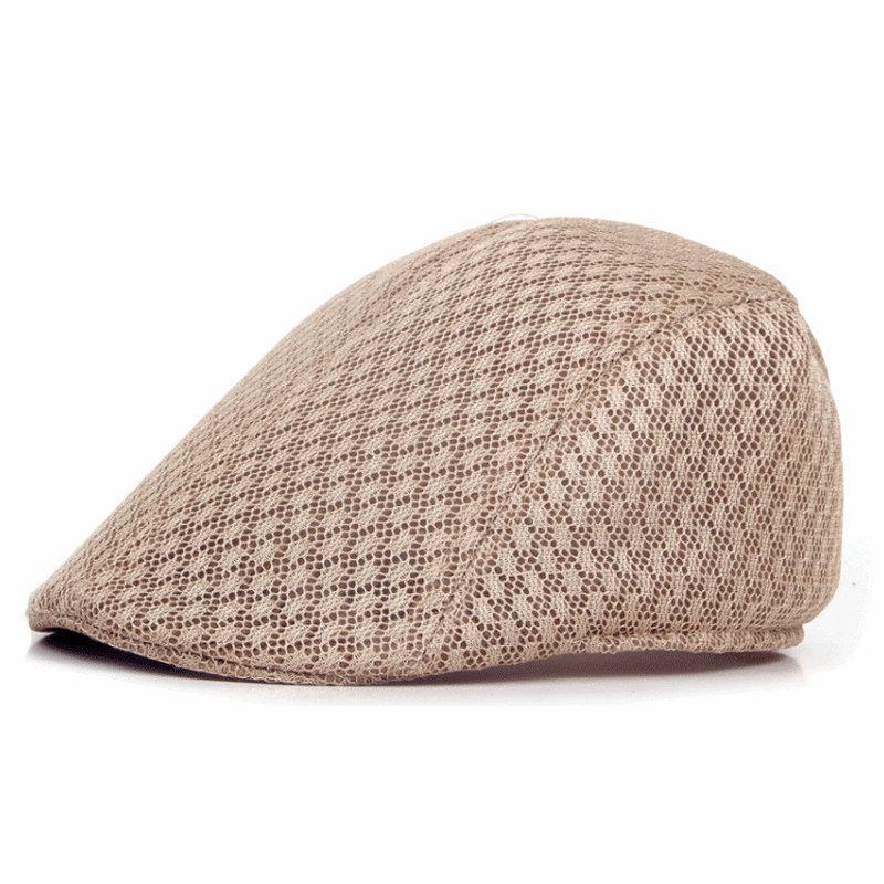 9218ae6c5b7 2019 Summer Unisex Men Women Sun Breathable Mesh Beret Cap Golf Solid Beret  Cap Adult Duckbill Hat From Pulchritudinous