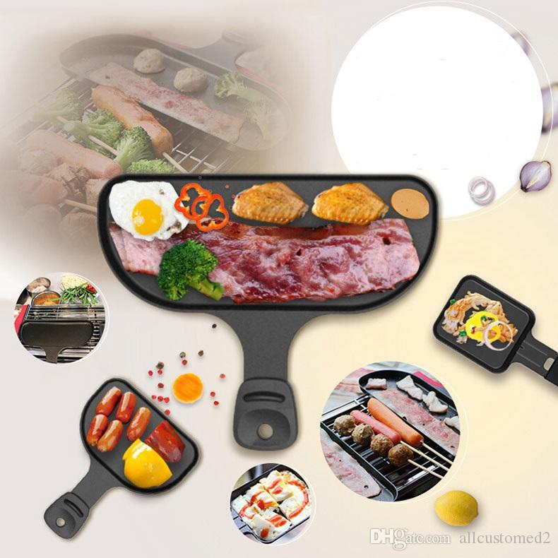 Barbecue Accessories Hand Dish For Omelette And Barbecue Size Aluminum Alloy Grill Hand Dish Moq Is 5pcs