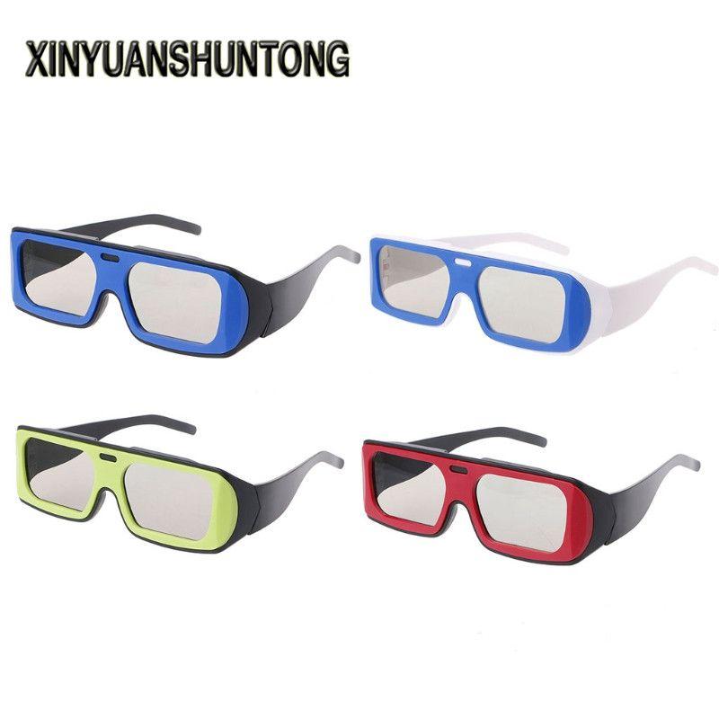 XINYUANSHUNTONG 3D Glasses Dual Color Frame Circular Polarized ...