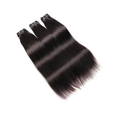 Malezya Düz Saç Dokuma% 100% Remy İnsan Saç Uzantıları 10-30 Inç Doğal Siyah Renk Bakire Saç