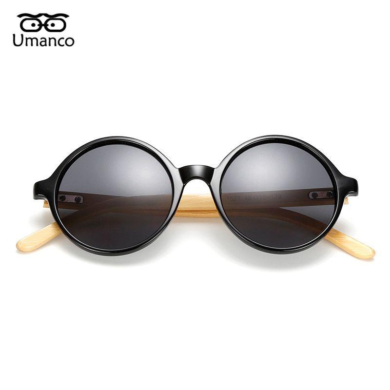 c162ad4071 Compre Umanco Hombres Gafas De Sol De Bambú Para Mujer Diseñador De La  Marca Lentes Redondas Gafas De Sol Moda Vintage Gafas Para Hombre De Madera  Natural A ...