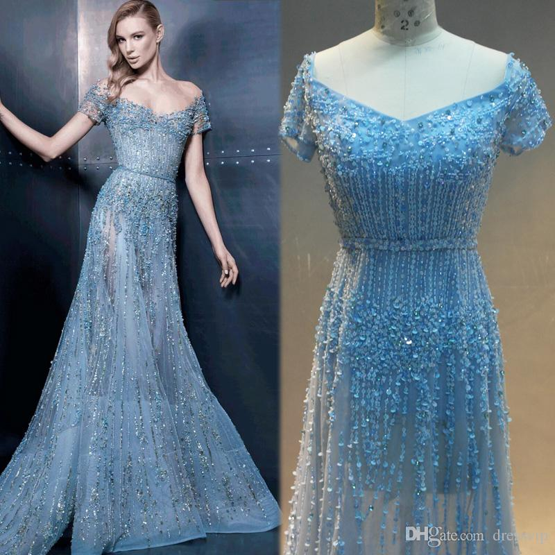 Elie Saab Luxury Evening Dresses With Lace Applique Beaded Sequins ...