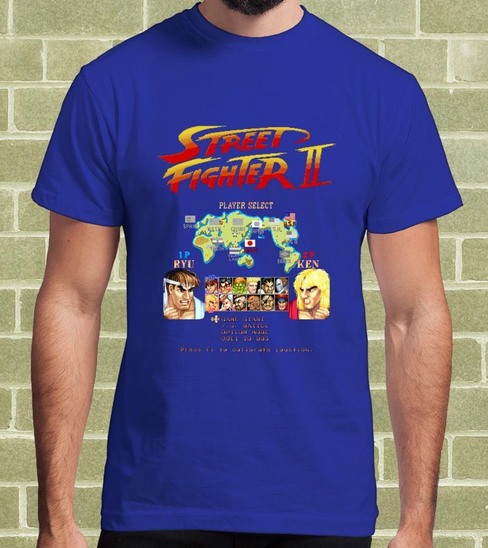 b2783b1dc8f STREET FIGHTER 2 STREET FIGHTER II VIDEOGAME ARCADE T SHIRT Uomo E Bambino Men S  T Shirt On T Shirt Tourist Shirts From Caesarl