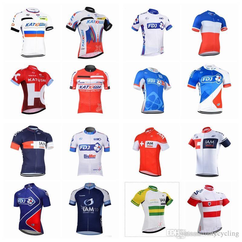 FDJ IAM Cycling Jerseys Short Sleeves Summer Cycling Shirts Cycling Clothes  Bike Wear Comfortable Breathable Hot New Rapha Jerseys A42101 FDJ Cycling  Jersey ... 02959f314
