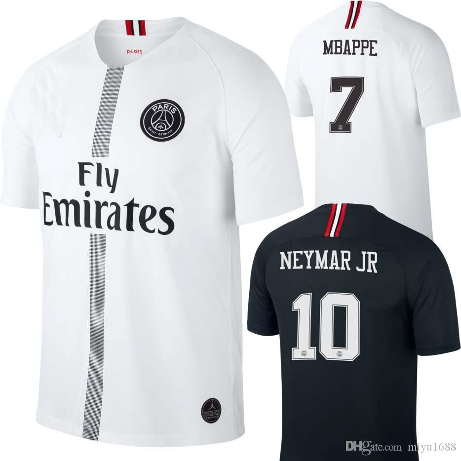 2018 2019 PsG MBAPPE JR SOCCER JERSEYS 18 19 VERRATTI MATUIDI CAVANI ZLATAN MAILLOT  DE FOOT CAMISA Paris Saint Germain Third FOOTBALL SHIRT DI MARIA Mbappe ... 589d8697f