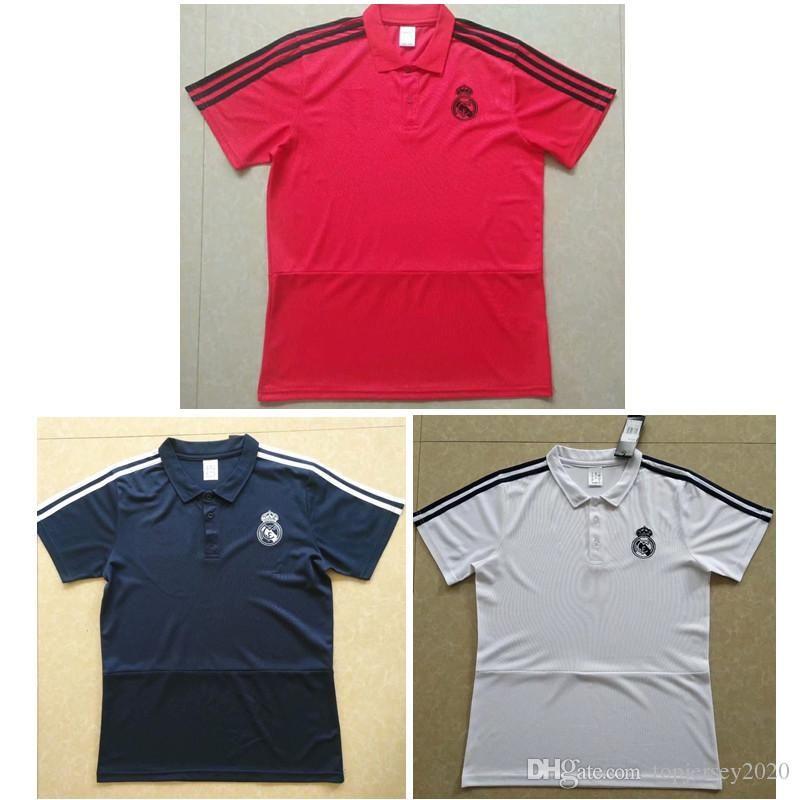 Thai 18 19 Real Madrid Camiseta POLO Ronaldo MARIANO Kit De Fútbol 2018 2019  Jerseys De Fútbol Real Madrid KROOS ASENSIO Camiseta De Entrenamiento Por  ... 8a051577e40e9