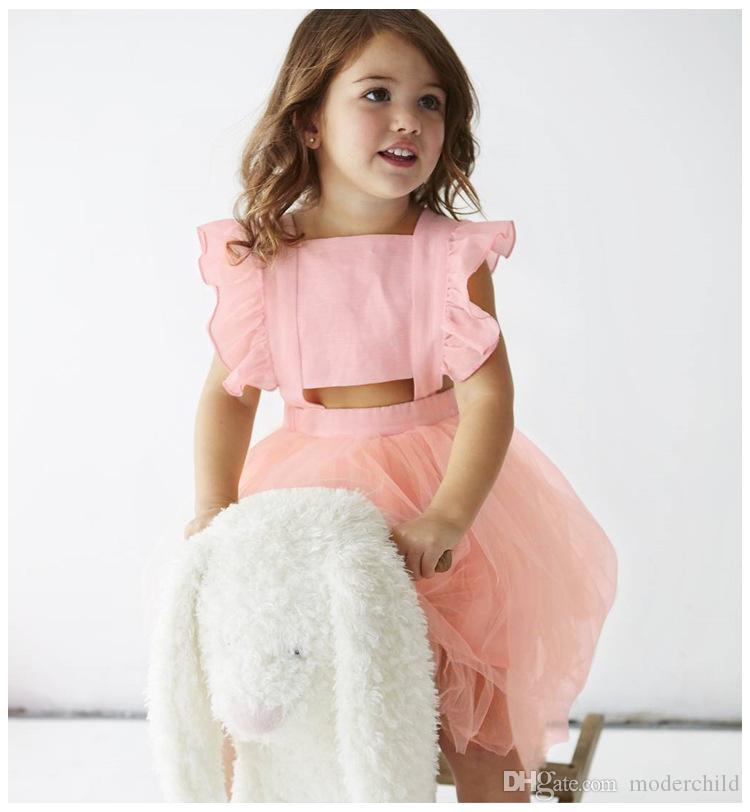 Compre 2018 Nuevos Diseños De Verano De Los Niños Bownot Princesa ...