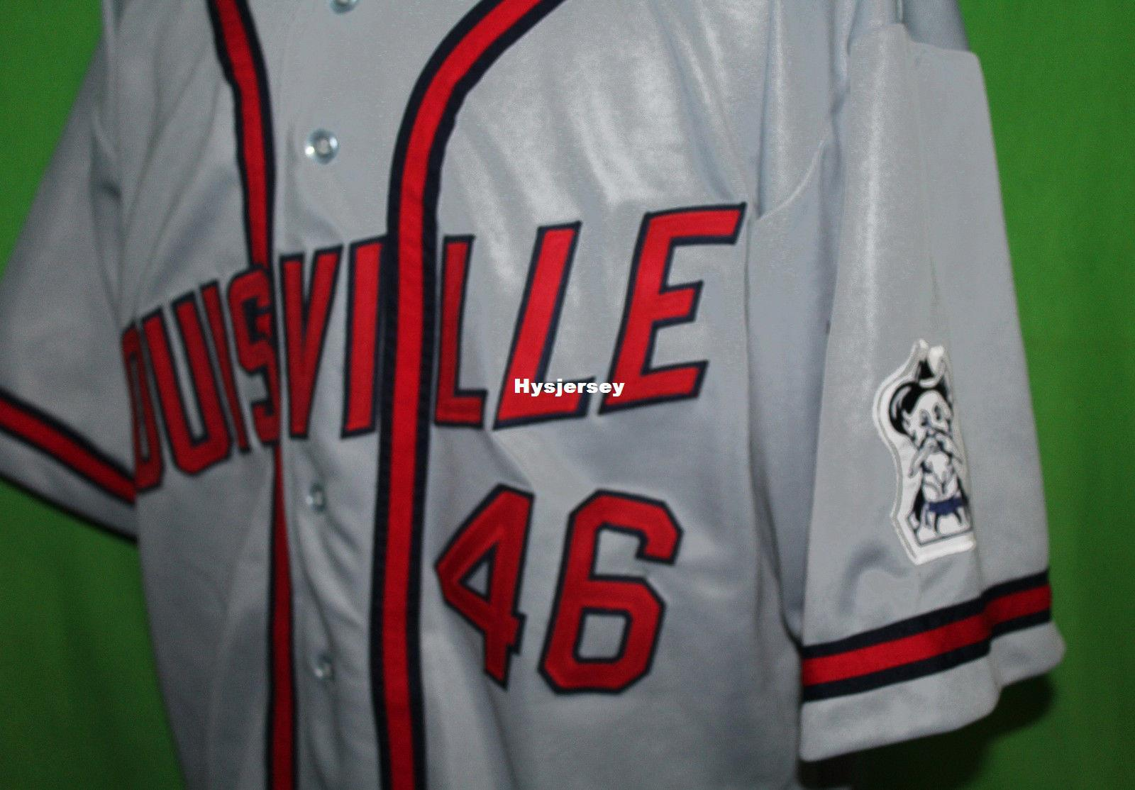 e22d0a76e 2019 Cheap Retro LOUISVILLE COLONELS  46 1960 Road BASEBALL JERSEY Or  Custom Any Number Any Mens Vintage Jerseys XS 5XL From Hysjersey