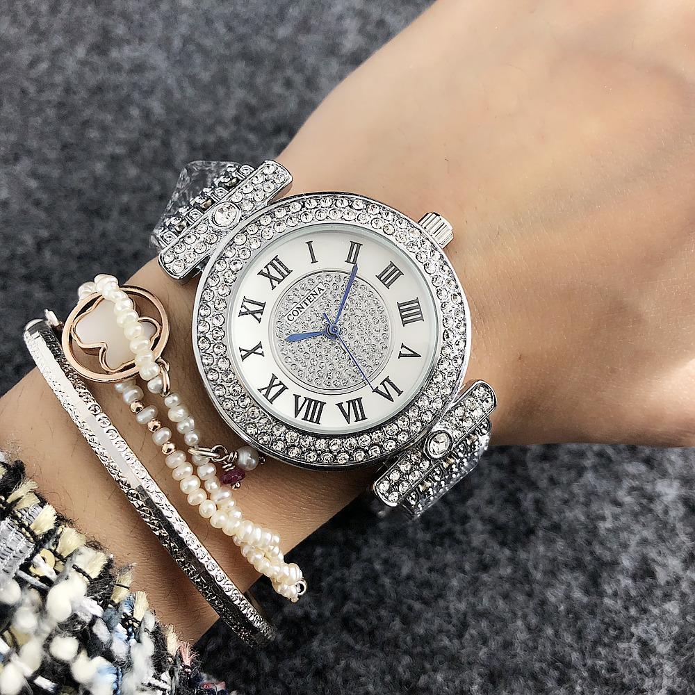 5494937a71e7 Compre Nuevo Reloj De Plata Para Mujer De Lujo Marca New Geneva Para Mujer Reloj  De Cuarzo Para Niña Relojes De Pulsera De Acero Inoxidable Completo S917 A  ...