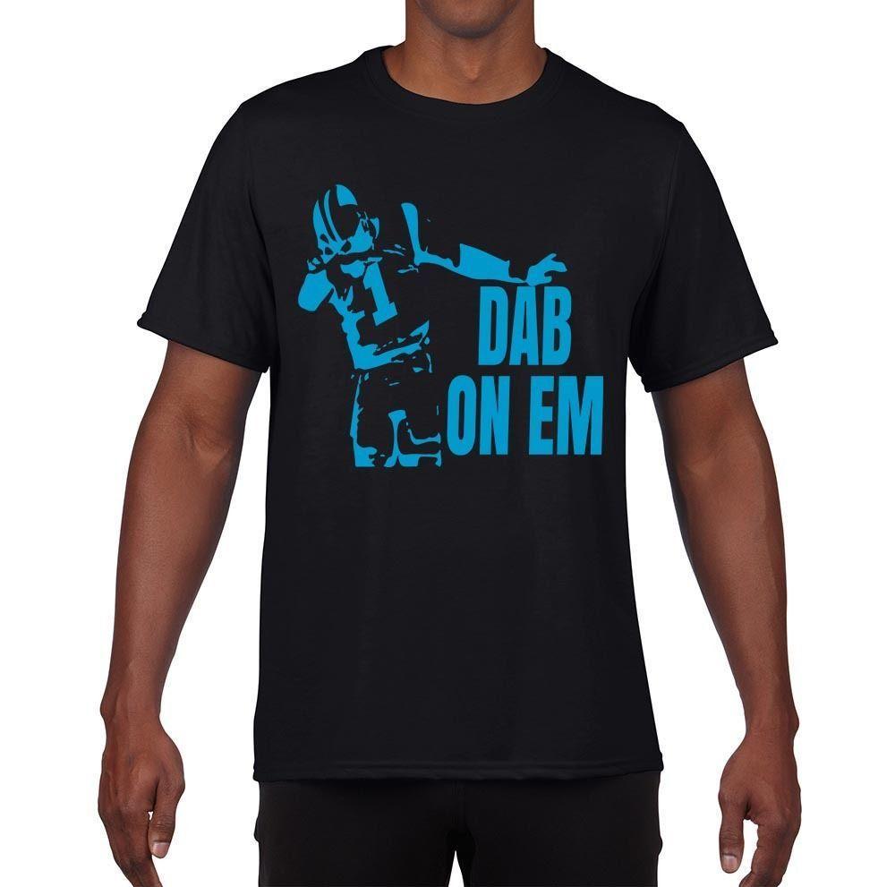 296fa040 New Design T Shirt PrintRegular Cam Newton Dabbing Dab On Em Panthers Mens  T-Shirt Men Short O-Neck Tee Shirt