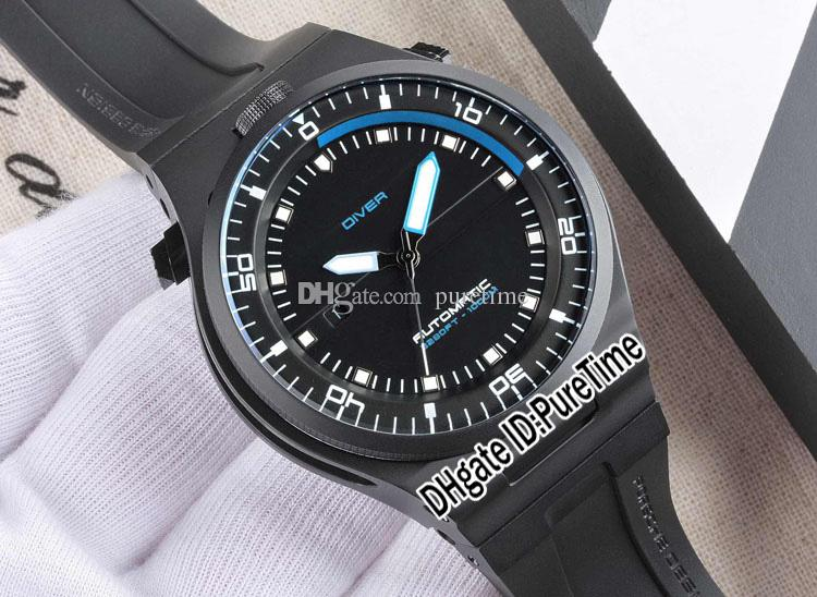 Best Version P'6780 P6780 PD Limited Edition Design Sport Racing Car Dive Watches Black PVD Black/Blue Automatic Mens Watch Rubber pd04