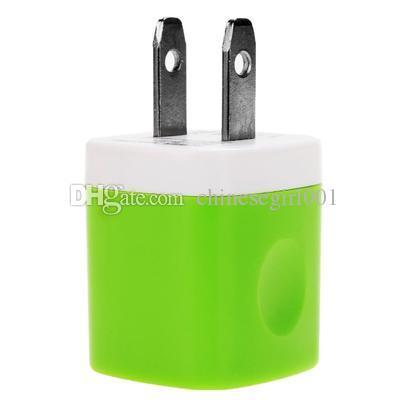 Adaptador de corriente de carga rápida del cargador USB del enchufe del hogar colorido de 5V 1A para el iphone 5 6 7 para samsung s6 s7