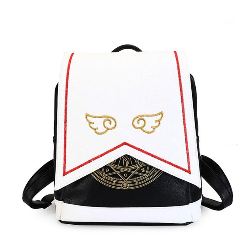 2018 Anime Card Captor SAKURA Kawaii Mini Backpack Cardcaptor Sakura  Printing School Bags Lolita Women Backpack With Angel Wing Rucksack Backpack  Boys ... 01ed5bd00385b