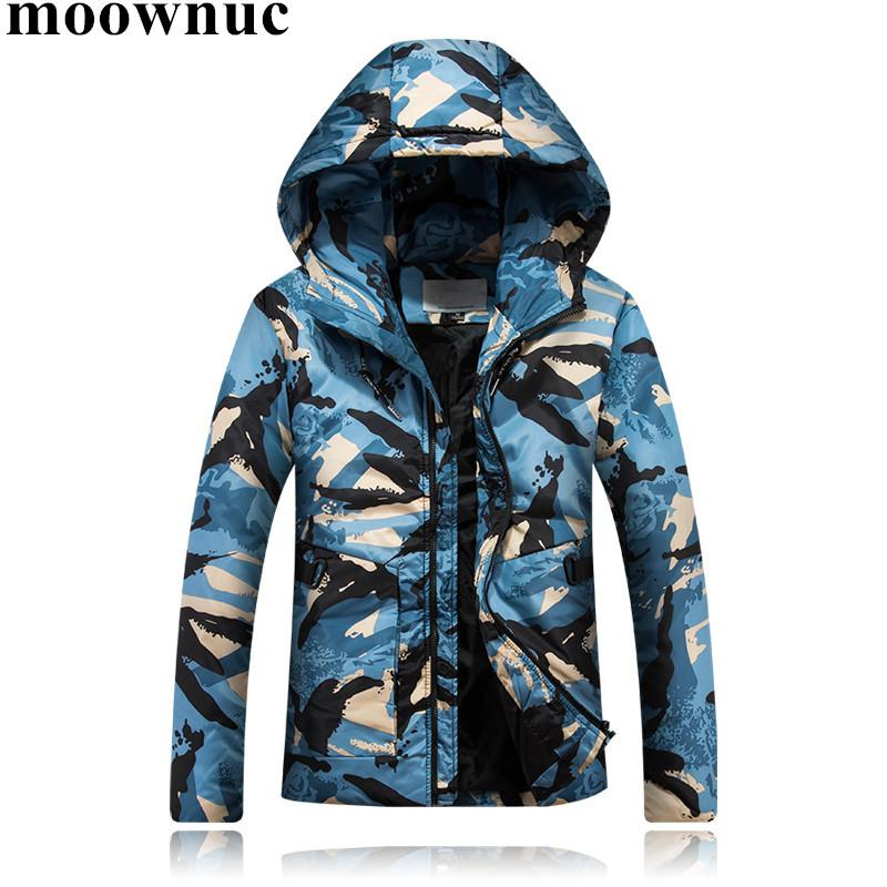 2018 New Winter Men's Parkas Short Hooded Camouflage Coats Plus Size S-4XL Overcoats Mens Waterproof Jackets for Men Light Coats