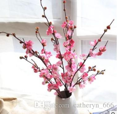 Elegant Silk Japanese Cherry Blossoms Flower Branches Decoration