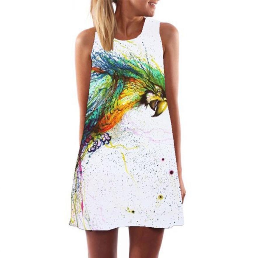 ff06bfc6cd59 Acquista La Migliore Vendita Abito Estivo Donna Lady Casual Dress Di Grandi  Dimensioni Del Fumetto Stampa Party Mini Abiti Robe Femme A  21.63 Dal ...