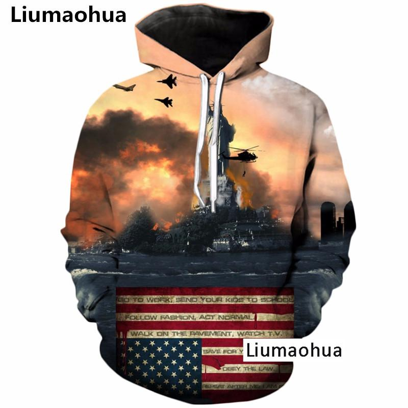 Men's Clothing Liumaohua Sweatshirt 3d Printed Zip Hoodies Women Men Autumn Style Dinosaur Jumper Jacket