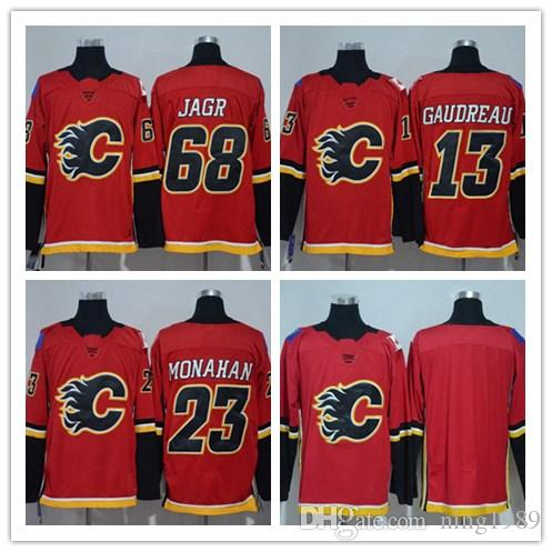2018 Season Calgary Flames Jersey 68 Jaromir Jagr 13 Johnny Gaudreau 23  Sean Monahan Authentic Stitched Hockey Jerseys ! Online with  46.02 Piece  on ... 66cd85959