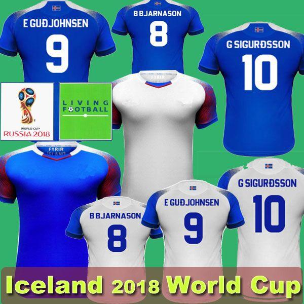 2019 2018 World Cup Iceland Soccer Jersey Island Football Kits Thailand Home  Away 10 G Sigurdsson Finnbogason Gudjohnsen From Backjerseys 1edb8fba5
