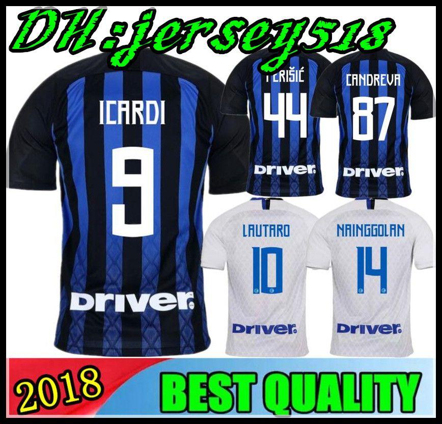 Compre 18 19 Inter Camisa De Futebol 2018 2019 JOVÉTICA ICARDI PALACIO  KONDOGBIA PERISIC Kondogbia MEDEL CANDREVA Jovetic Milan Camisa De Futebol  De ... 8747f6a7c24b6