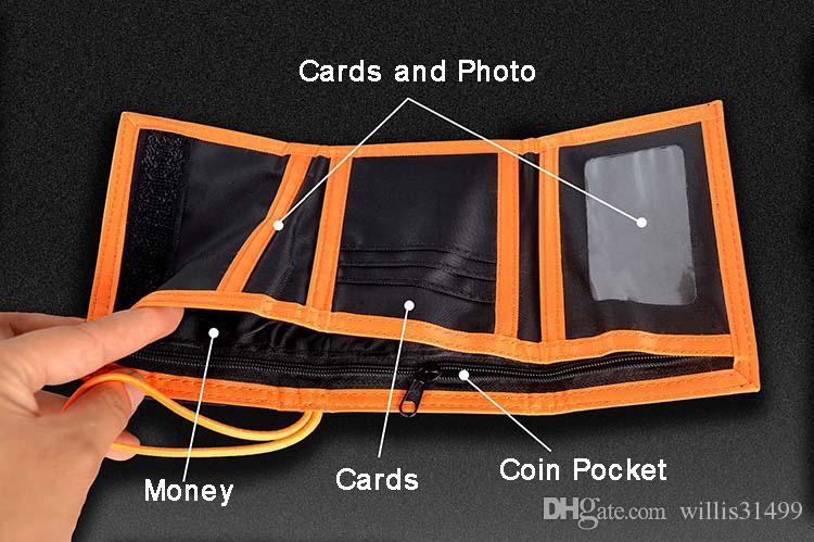 Portafogli da uomo in tessuto in tessuto da uomo portamonete di buona qualità maschio lettere portafoglio portamonete tasca porta carte di credito Moneybags Portafoglio studente