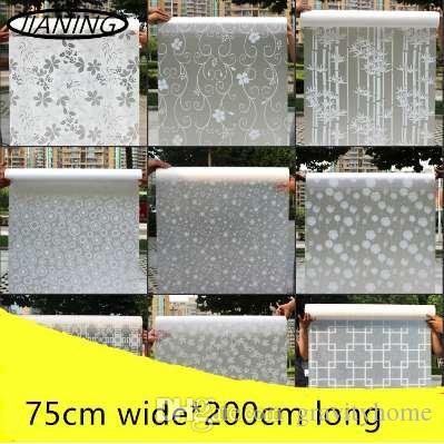 75cm wide*200cm self-adhesive Decorative film frosted Glass stickers  sliding door bathroom toilet translucent opaque window film