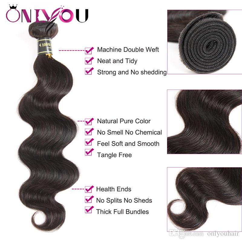 Malaysian Body Wave Virgin Hair 4 Bundles with Top Lace Closure Body Weaves Hairstyles For Black Women Superior Supplier Human Hair Vendors