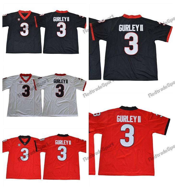 san francisco 514ce 046ec 2018 Mens Georgia Bulldogs Todd Gurley II College Football Jerseys Cheap  Black Red #3 Todd Gurley II Stitched Football Shirts S-XXXL