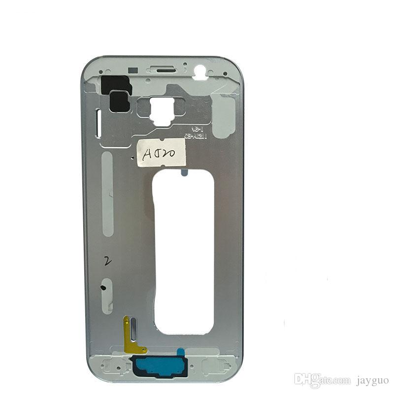 OEM Middle Housing Frame Bezel Cover+ Power On Off Side Button For Samsung Galaxy A5 A7 2017 A520 A720