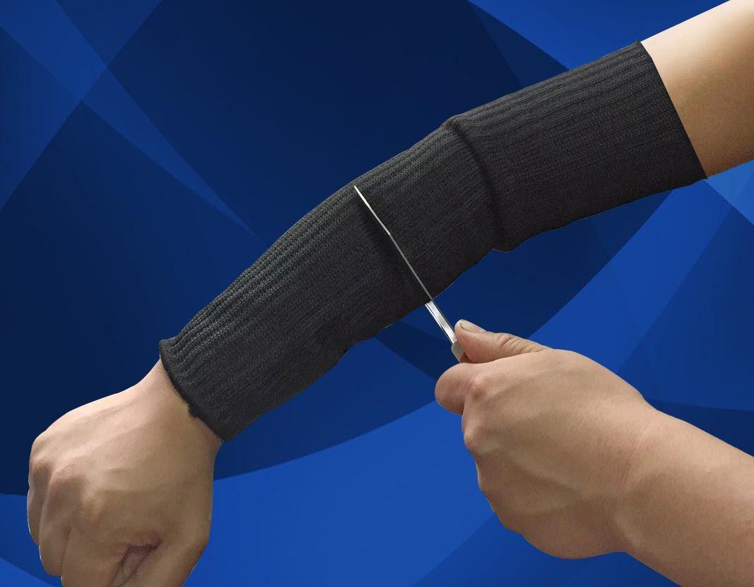 Bir Çift Spor Güvenlik Kollu Kevlar Kol Kol Koruma Bilek Kol Armband Anti-Aşınma Anti-Cut Yanık Kol Dayanıklı Kolluk