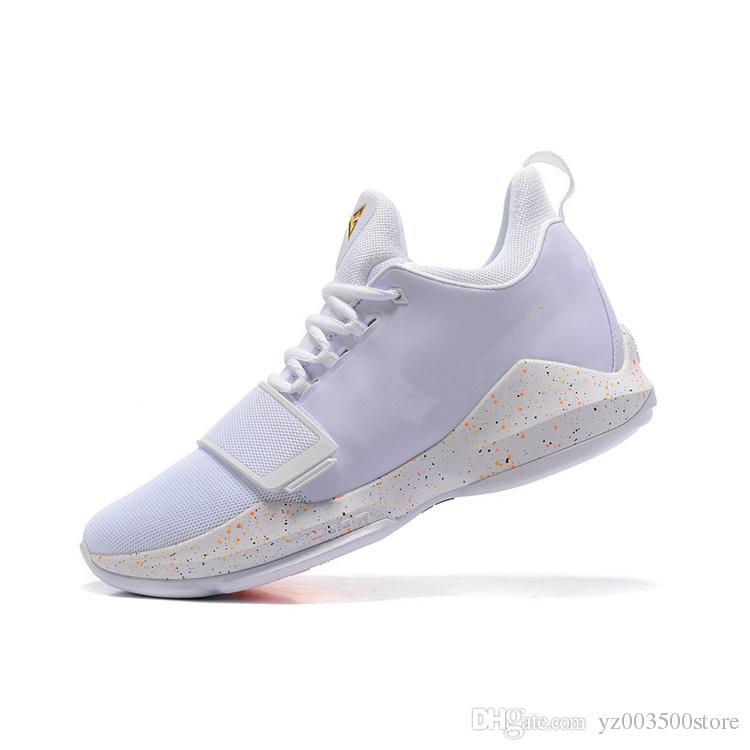 best service 62b70 16b84 2018 hot Paul George PG1 Ferocity Glacier Grey Shining black and white  flower designer PG 1 sports training basketball shoes