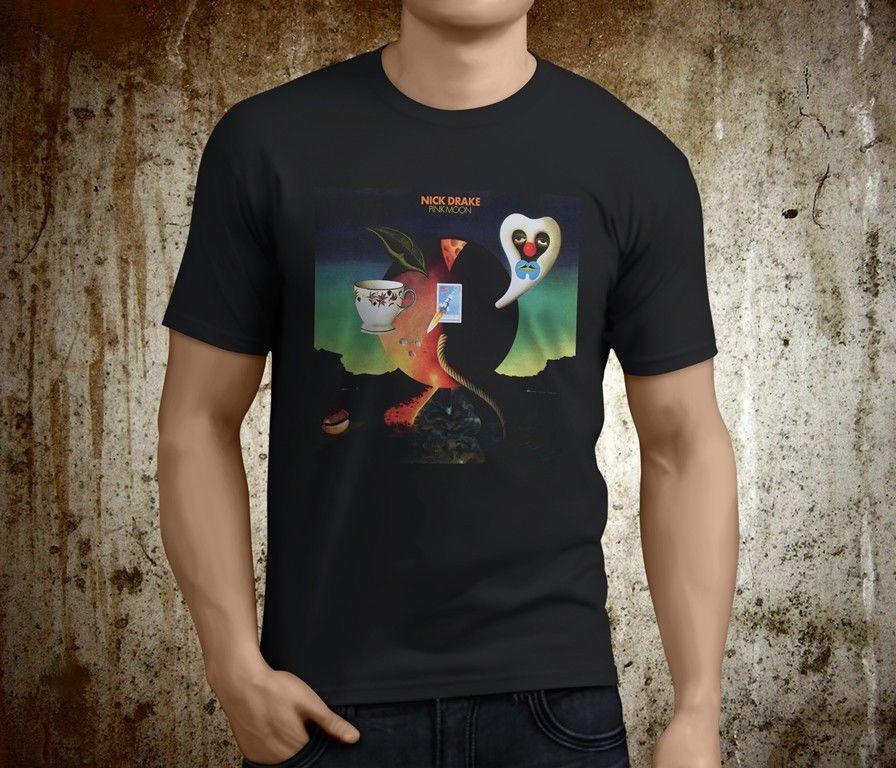 Et Nick Pink Moon Cool Noir Des Hommes Musicien S 3xl Drake Taille Nouveau Shirt Chanteur T hxCstdQr