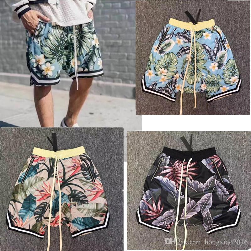 Men's Clothing Hottest Fear God Shorts Men Women Summer Style Fear God Shorts Flowers The1987 Collection Fogs Zipper Pocket Beach Mesh Shorts