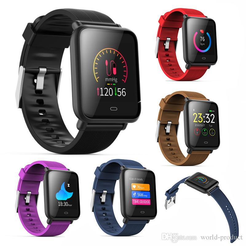 Q9 Blood Pressure Smart Bracelet Color Screen IP67 Waterproof Smartband  Sport Heart Rate Monitor Fitness Wristband for android 4 3 and IOS 7