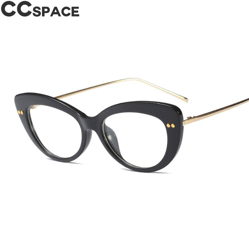 184306cff79f 2019 Cat Eye Glasses Frames Women Fashion Styles CCSPACE Brand Designer  Optical Computer Glasses 45628 From Exyingtao
