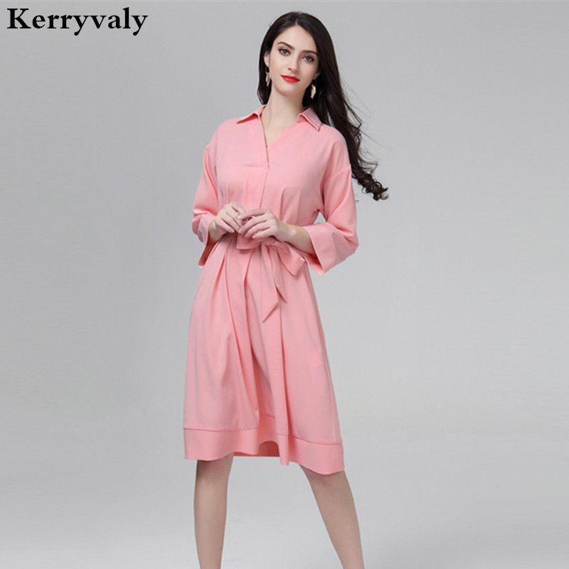 2018 England Loose Plus Size Dresses For Women 4xl Princess Pink